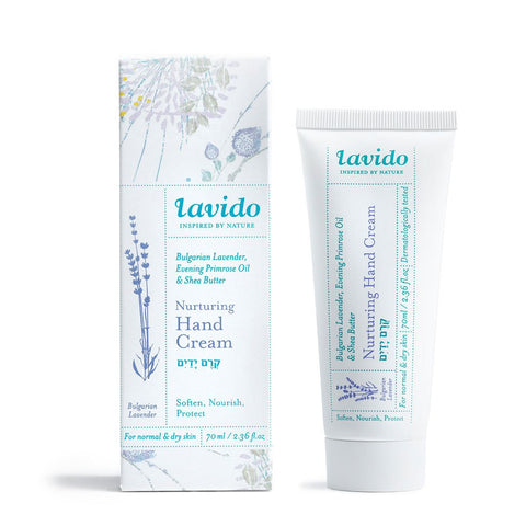 Lavido Nuturing Hand Creme: Bulgarian Lavender, Evening Primrose Oil & Shea Butter