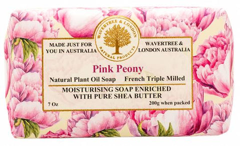 Wavertree & London Australia Moisturizing Soap: Pink Peony