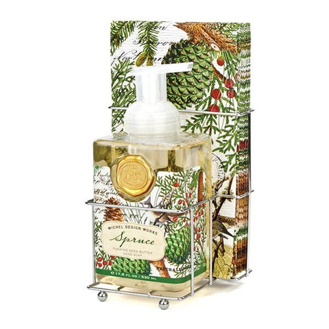 Michel Design Works Foaming Hand Soap Napkin Set: Spruce