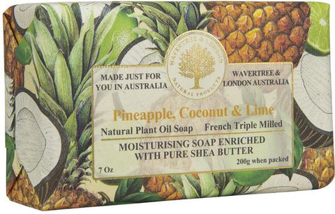 Wavertree & London Australia Moisturizing Soap: Pineapple, Coconut, Lime
