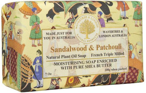 Wavertree & London Australia Moisturizing Soap: Sandalwood & Patchouli
