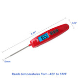 EatSmart™ Precision Elite Thermocouple Digital Food Thermometer Size