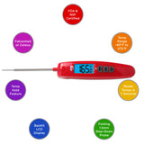 EatSmart™ Precision Elite Thermocouple Digital Food Thermometer Features