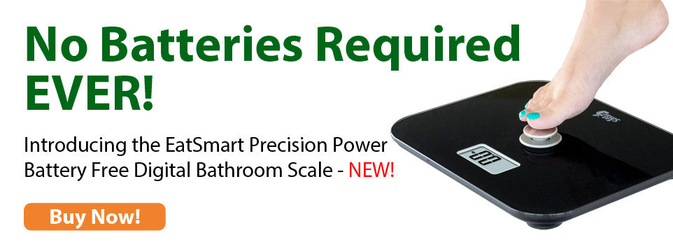 EatSmart Battery Free Bathroom Scale