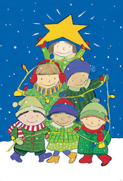 Tree of Kids Holiday Cards