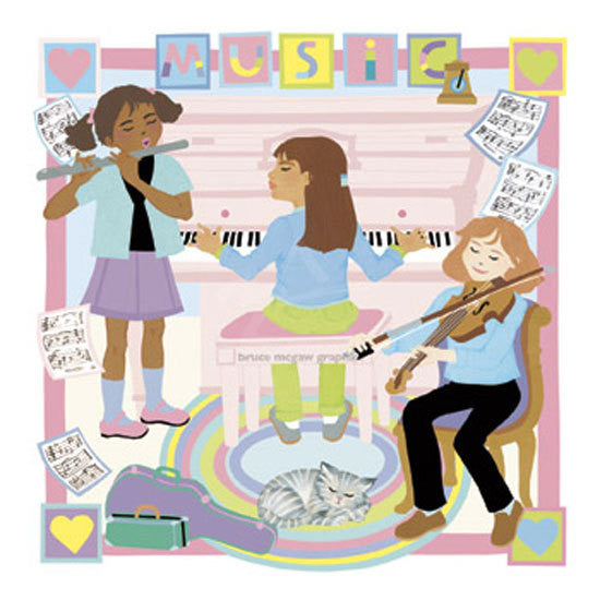Music Girls Print
