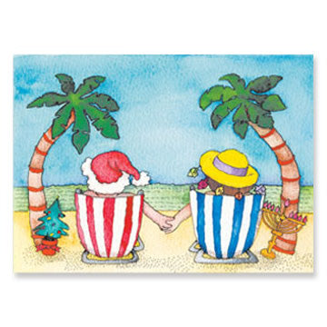 Beach Time Interfaith Holiday Greeting Cards
