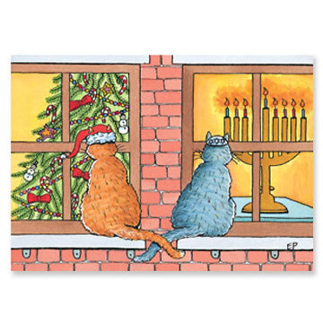 Curious Cats Interfaith Holiday Greeting Cards