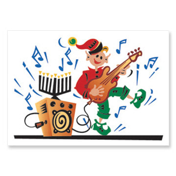 Elf Musician Interfaith Holiday Greeting Cards