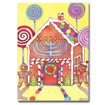 Gingerbread House Interfaith Holiday Greeting Cards