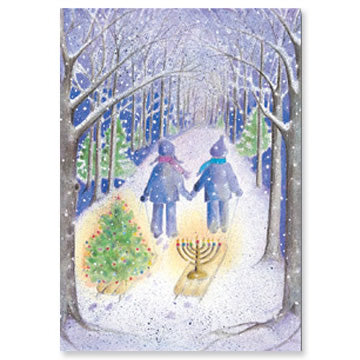Holiday Sleds Interfaith Holiday Greeting Cards