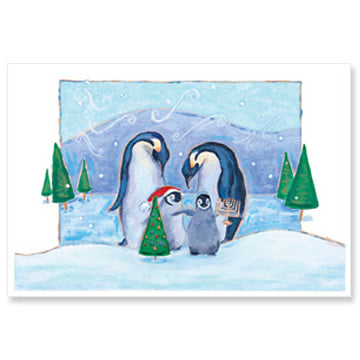 Penguin Family Interfaith Holiday Greeting Cards