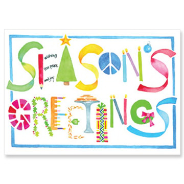 Season's Greetings Interfaith Holiday Cards