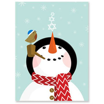 Snowman Interfaith Holiday Greeting Cards