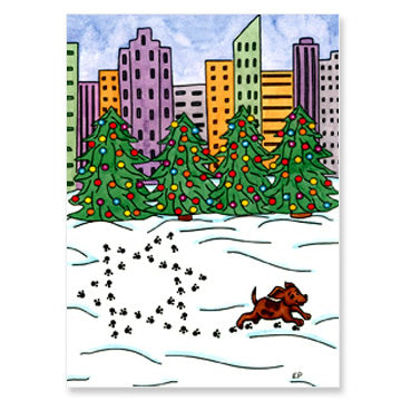 Paw Prints Interfaith Holiday Greeting Cards