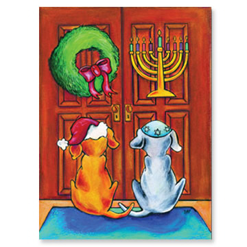 Doggies at the Door Interfaith Holiday Cards
