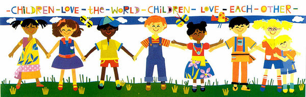 Children Love the World Print by Cheryl Piperberg