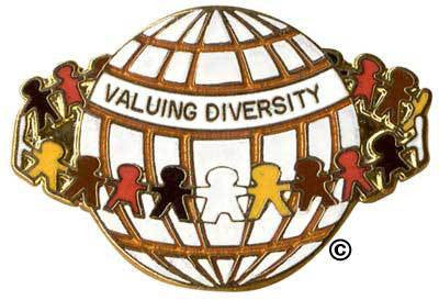 Value Diversity World Pin