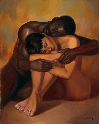 Interracial Nude Art Print