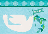 It's all about peace in this contemporary card.