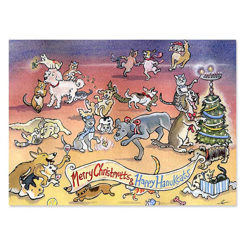 Christmutts and Hanukcats Interfaith Holiday Cards
