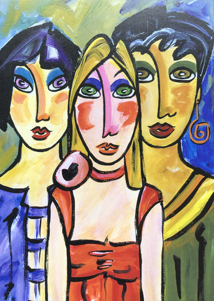 Sisters Under the Skin Greeting Card