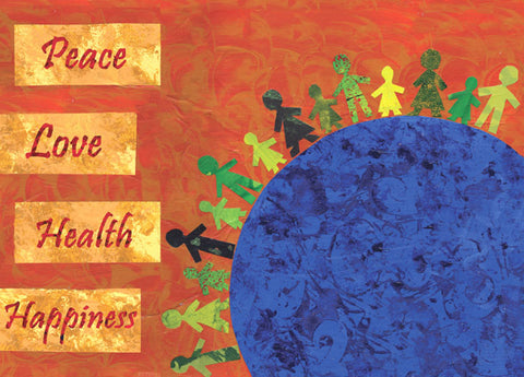 Peace, Love, Health, Happiness Holiday Cards
