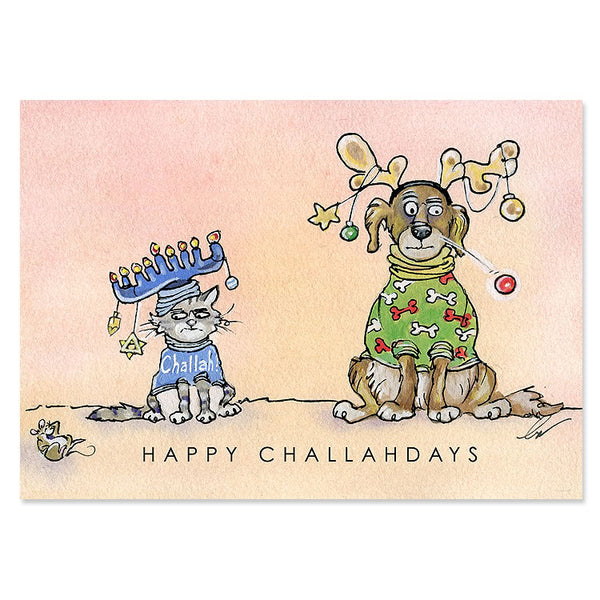 Happy Challahdays Interfaith Holiday Cards