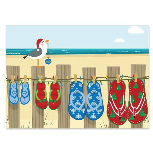 Holiday Flip Flops Interfaith Holiday Greeting Cards
