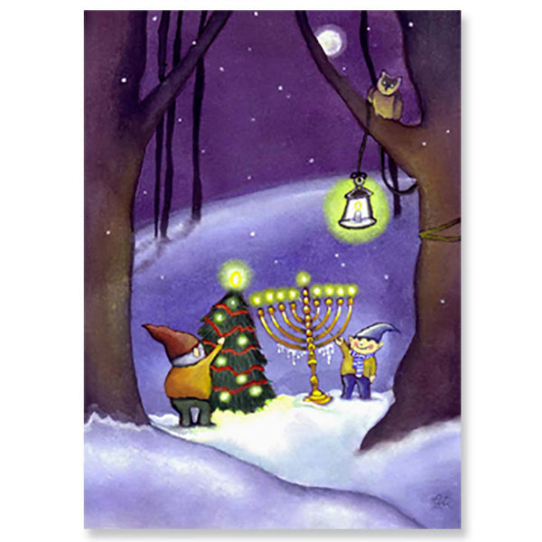 Holiday Gnomes Interfaith Holiday Greeting Cards