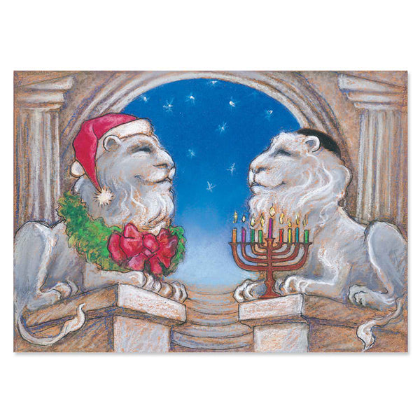Lions in Winter Interfaith Holiday Greeting Cards