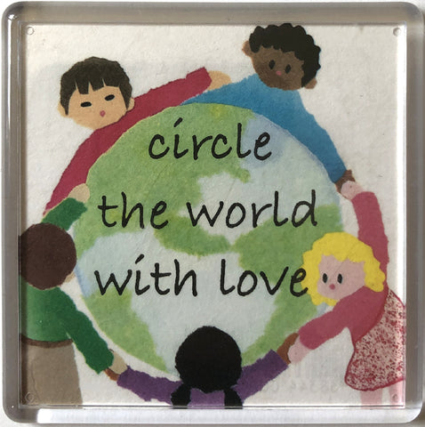 Circle the World with Love Magnet