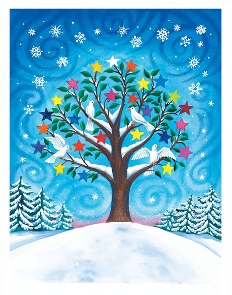 Tree of Peace Holiday Cards