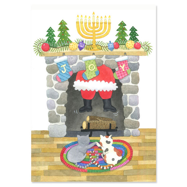 Santa's Here Interfaith Holiday Greeting Cards