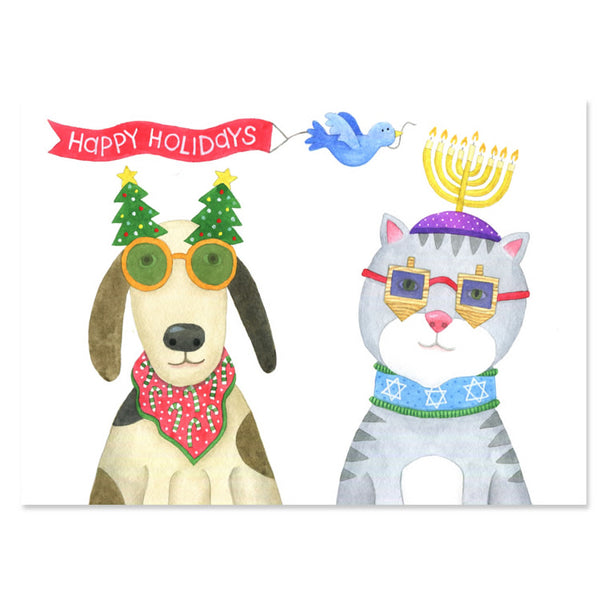 Holiday Sunglasses Multicultural Greeting Cards