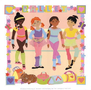 Ballet Girls Print by Artist Cheryl Piperberg