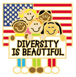 Diversity is Beautiful Pin