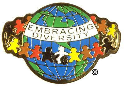 Embracing Diversity Pin