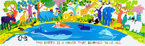 The Earth is a House Print by Cheryl Piperberg