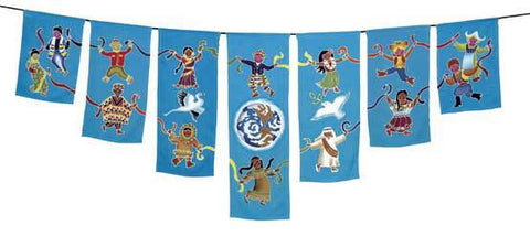Children's Peace Dance Flag String