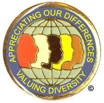 Appreciating Our Differences Valuing Diversity Pin