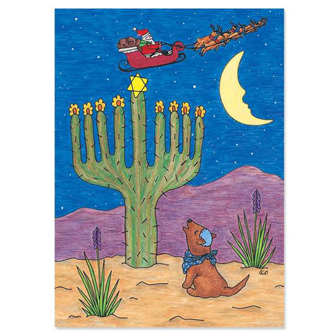 Cactus Menorah Interfaith Holiday Cards
