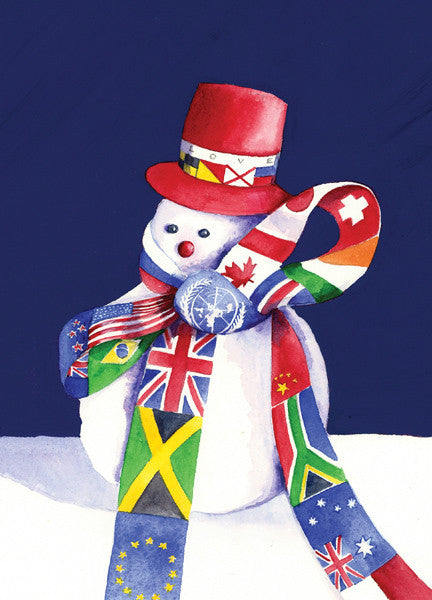 International Snowman Holiday Cards