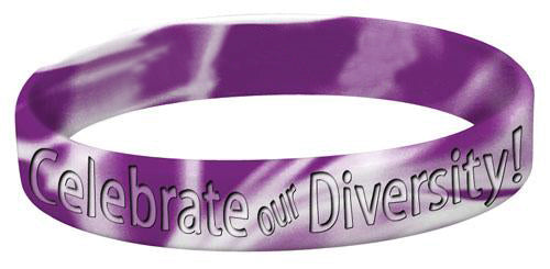 celebrate our diversity silicone bracelet
