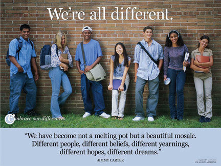 We're All Different Poster