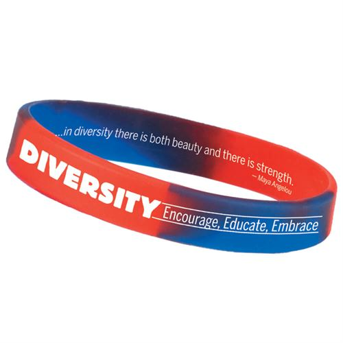 encourage, educate, embrace diversity silicone bracelet