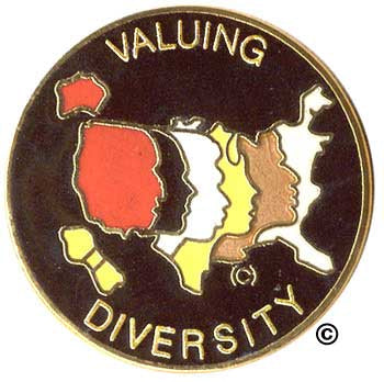 Valuing Diversity Pin