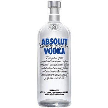 ABSOLUT 80 PROOF 750ML