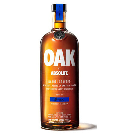 ABSOLUT OAK BARREL CRAFTED 750ML - Fireside Cellars