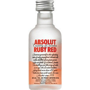 ABSOLUT RUBY RED 50ML - Fireside Cellars